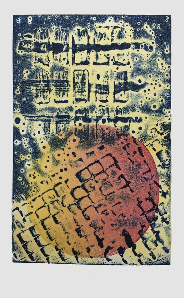 Encaustic Collagraphs on Washi Encaustic Collagraph 1546
