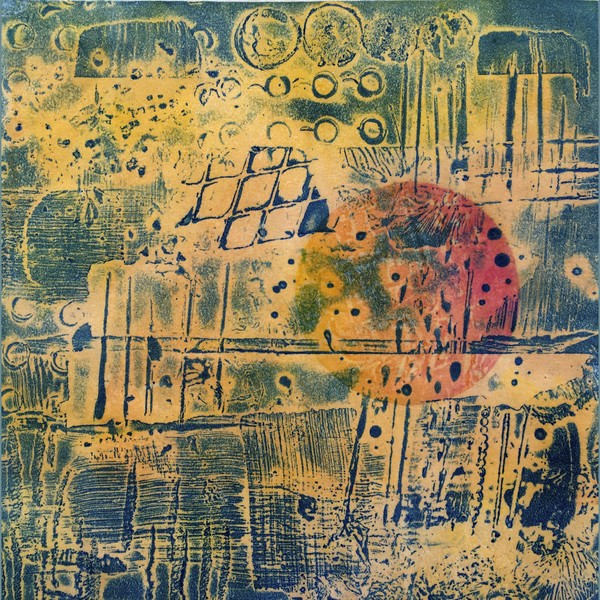 Encaustic Collagraphs on Washi Summer Heat