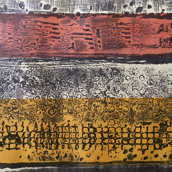 Encaustic Collagraphs on Washi Changing Light
