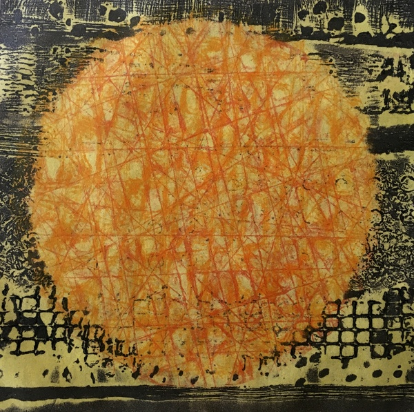 Encaustic Collagraphs on Washi Glow # 2