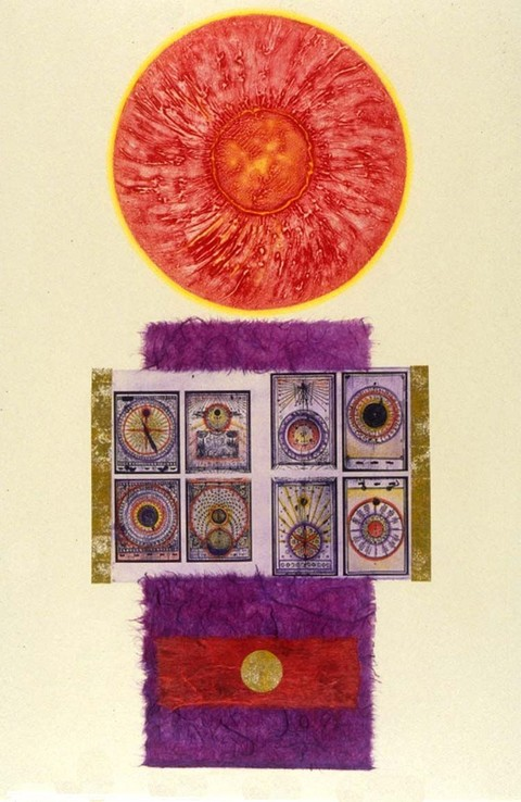 DOROTHY COCHRAN Solarplate Etchings Solarplate etching, collagraph, collaged mulberry and colored pencil