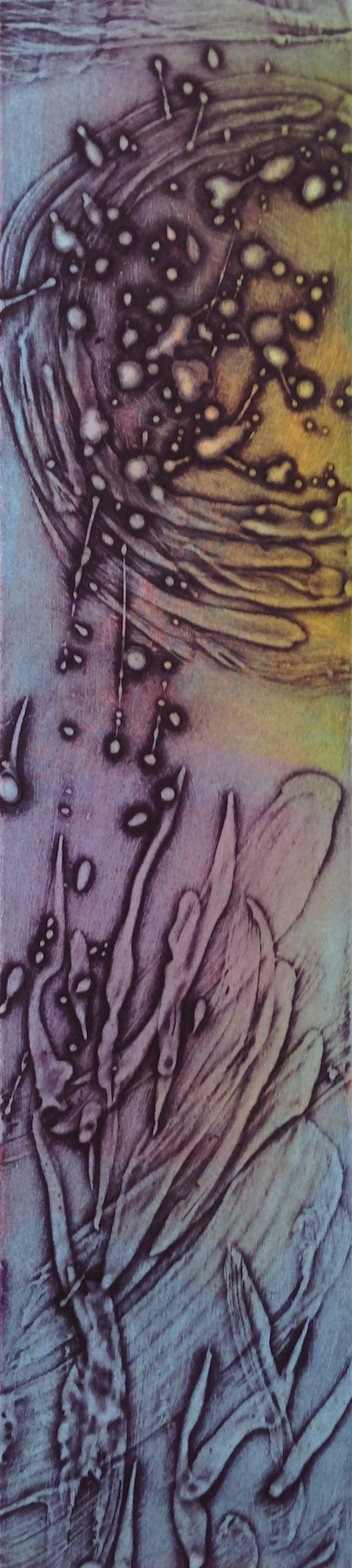 Encaustic Collagraphs Purple Glow