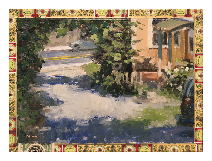 DOUG REINA Plein Air Oil on cigar box