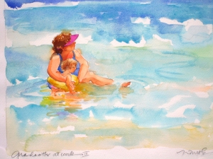 Nancy Tuttle Watercolor on paper wtercolor