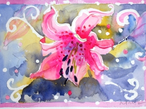 Nancy Tuttle Watercolor on paper Watercolor on paper