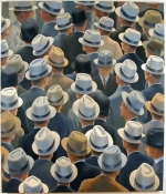 Greg Drasler Hats Paintings oil on canvas