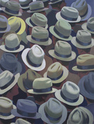 Greg Drasler Hats Paintings oil on linen