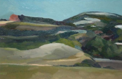 eamonn robbins slade valley  oil on wood