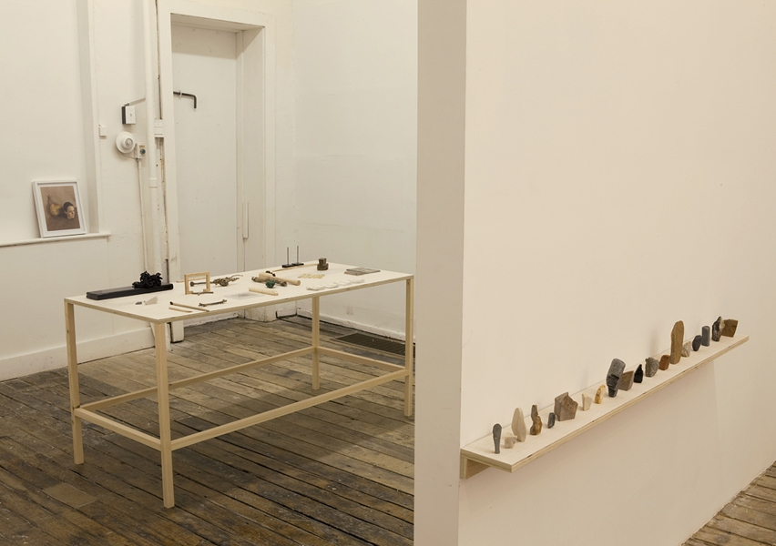The Pleasure's Mine Installation View - Lydia Brown Bust, Long Table, Line Up