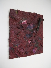 Edmund Chia 2011-a Acrylic, sand, found object, stainless steel wire, aluminium screen on canvas