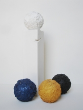 Edmund Chia 2010 Plaster, styrofoam, acrylic, pumice, pyrite; and found wood and acrylic