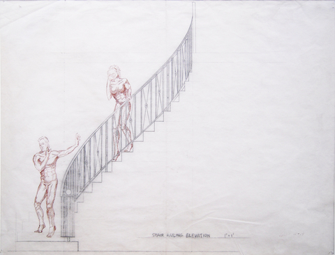 Edwin Salmon Works on Paper / Repurposed Narratives / Figure Series Pencil, Ink, Paper