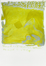 EGON ZIPPEL 1990 Pigment and acrylic on canvas