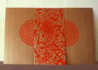EGON ZIPPEL Cardboard Fluorescent paint on cardboard