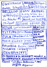 EGON ZIPPEL Names (real ones!)