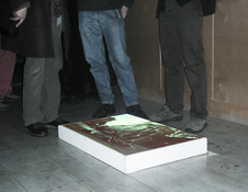 EGON ZIPPEL / Online Archive Projections / Video Photographs projected on the floor...