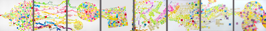EGON ZIPPEL / Online Archive Self-Creating Drawings: Post-its Post-its on canvas