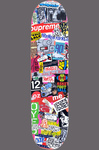 EGON ZIPPEL Devandalizing (in general) Stickers and tags on skateboard