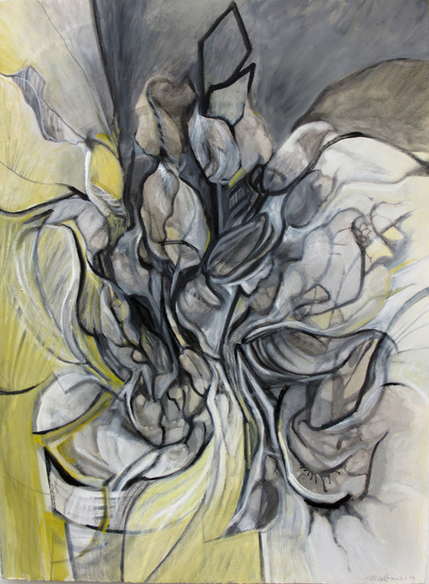 Eileen Mislove Labyrinth: Drawings and Paintings oil on gessoed paper