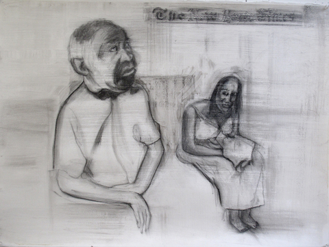 Eileen Mislove Labyrinth: Drawings and Paintings charcoal, gel medium on paper