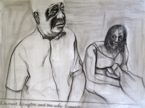 Eileen Mislove Snapshots charcoal on paper
