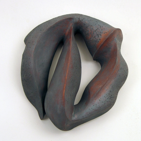 Elaine Lorenz Wall Sculptures Oxide Stained Ceramic