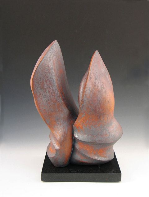 Elaine Lorenz Knife Edge Series  Ceramic, oxide stain