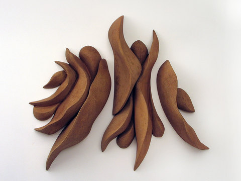 Elaine Lorenz Wall Sculptures Ceramic, acrylic stain