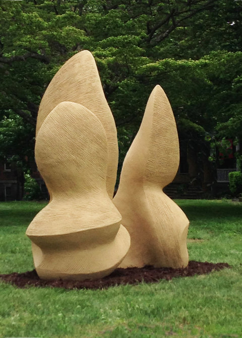 Elaine Lorenz Outdoor Sculpture Fiber reinforced cement