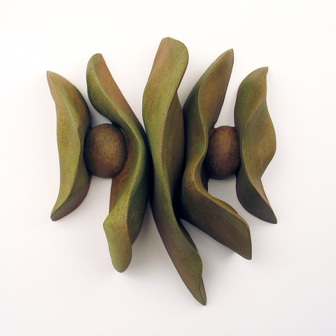 Elaine Lorenz Wall Sculptures Ceramic with acrylic stain