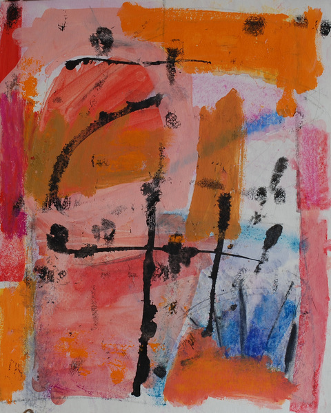 elaine souda Paintings: Warm Notes Acrylic on Paper