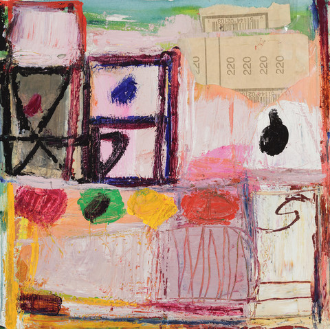 elaine souda Paintings on Paper 2015-17 Mixed Media Collage on Canvas