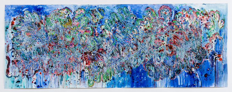 ELENI SMOLEN Biophilia Beginnings 1998 > oil and mixed media on gessoed paper