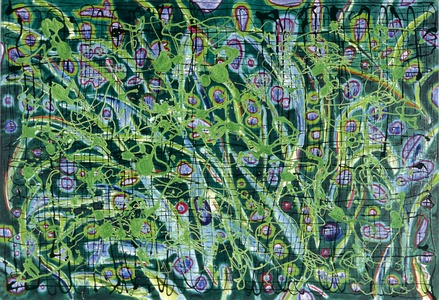 ELENI SMOLEN Biophilia Beginnings 1998 > 50 x 60 in