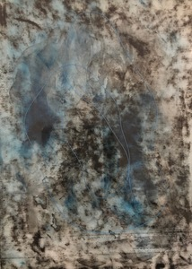 ELENI SMOLEN Surfacing Series 2020 – Mixed media, thread on rice paper