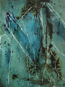 ELENI SMOLEN Surfacing Series 2020 – Mixed media on wood panel