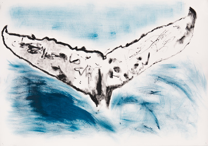 ELENI SMOLEN Surfacing Series 2020 – Oil and ink on Arches Huile