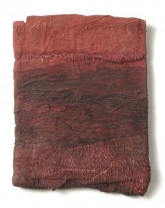 Elisa D'Arrigo Folded and Sewn Paper Works handmade paper, thread, acrylic paint, marble dust