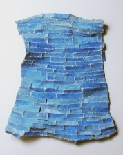 Elisa D'Arrigo Sewn and Constructed Cloth and Paper Works paper, cloth, acrylic paint, thread
