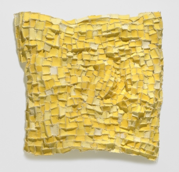 Elisa D'Arrigo Sewn and Constructed Cloth and Paper Works paper, cloth, thread, acrylic paint, marble dust