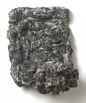 Elisa D'Arrigo Sewn and Constructed Cloth and Paper Works handmade paper, cloth, pigments., thread, acrylic medium