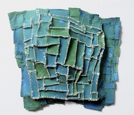 Elisa D'Arrigo Sewn and Constructed Cloth and Paper Works cloth, paper, acrylic paint, thread
