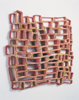 Elisa D'Arrigo Sewn Works Archive cloth, wax,  acrylic paint, thread