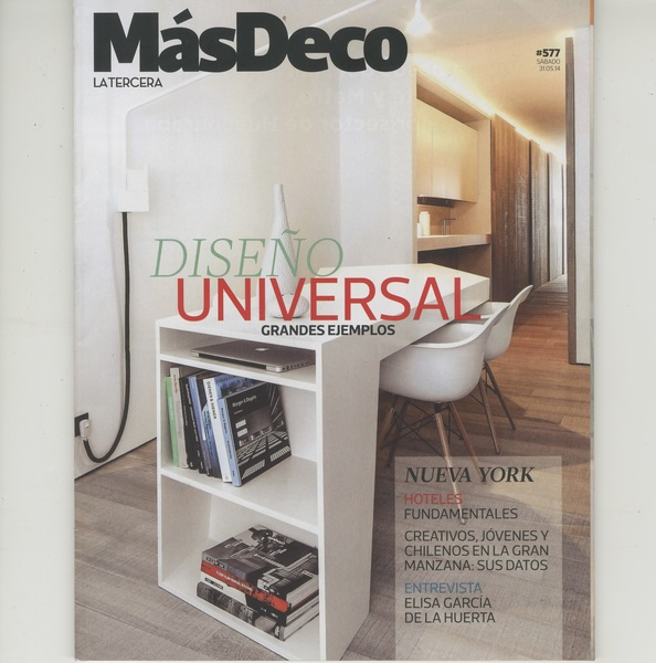 "Press Mas Deco La Tercera Magazine, ""La Busqueda de Elisa Garcia de la Huerta"" by Marcia Julia, no. 577 (pages: cover, 75, 74) May 31st 2014"