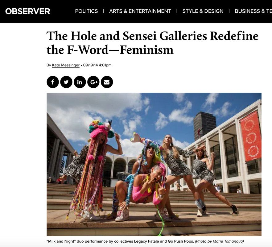 Press The Hole and Sensei Galleries Redefine the F-Word—Feminism By Kate Messinger • 09/19/14