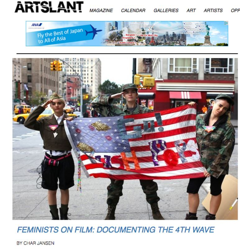Press FEMINISTS ON FILM: DOCUMENTING THE 4TH WAVE BY CHAR JANSEN