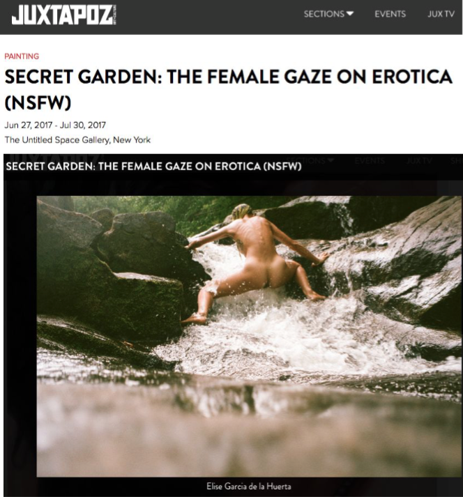 Press Juxtapoz Magazine, Secret Garden: The femal e Gaze on Erotica (NSFW)