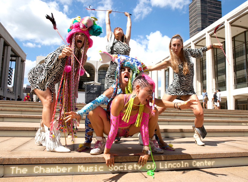 Go!PushPops  Guerilla Fashion Action with Legacy Fatale, Lincoln Center during Fashion week, photo: Marie Tomanova, 2014