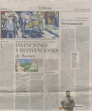 El Mercurio Newspaper, Artes y Letras Critica de Arte, Art Critic by Waldemar Sommer, A11 Oct 19