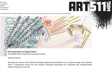 Art511 Magazine, The Importance of Digital Detox: ON SCREEN TIME'S CYBORGIAN MALADAPTATIONS by Katie Cercone Featuring drawings by Elisa Garcia de la Huerta